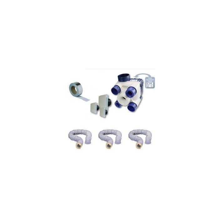 Kit Vmc à Hygrostat Réglable 603116 Unelvent Complet Avec Gaines Isolées