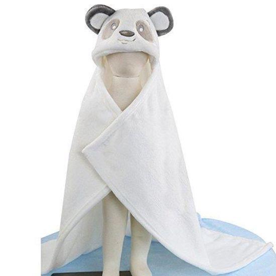 Sortie de bain a capuche 3D animaux Bebe serviette Couverture drap de bain bebe Panda
