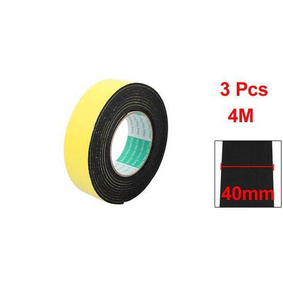 2pcs 40mm Large 1mm Epaisseur lat/érale unique anti-choc /éponge mousse Long 5m