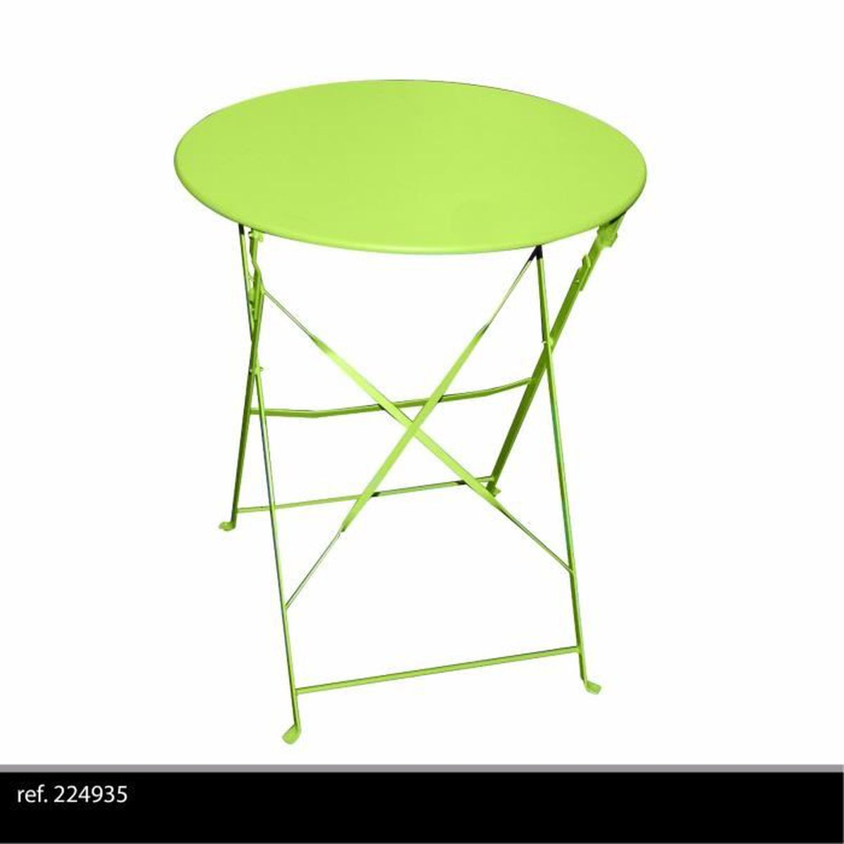 table ronde de jardin en metal bistro cafe salon pliante verte pliable exterieur achat vente. Black Bedroom Furniture Sets. Home Design Ideas