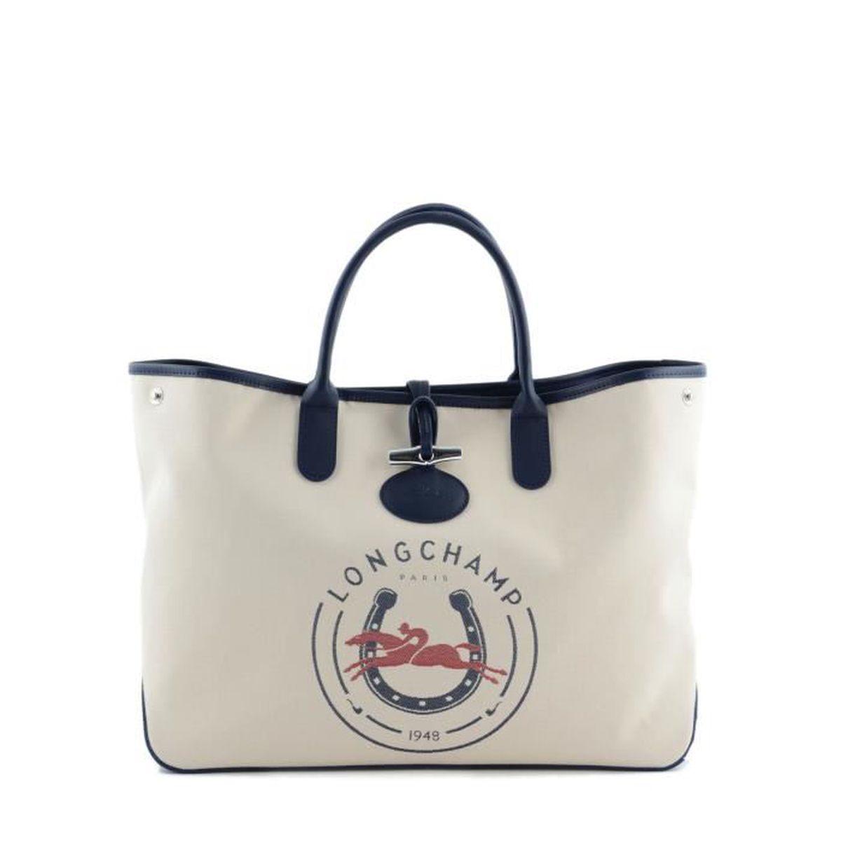 LONGCHAMP - sac femme porté main - ROSEAU LONGCHAMP 1948 - Achat ...