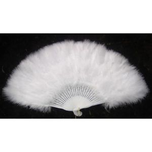 accessoire dguisement eventail plumes blanches 40 - Eventail Pas Cher Mariage