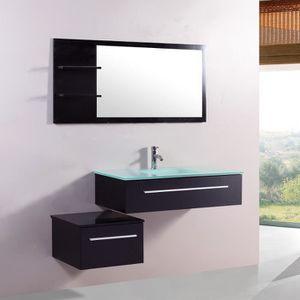 SALLE DE BAIN COMPLETE Meuble de salle de bain Lyséa 1 vasque + 1 miroir