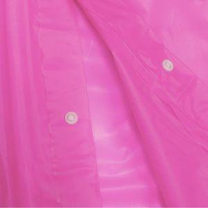 M-2XL Type PVC Manteau de Pluie Mac Violet Transparent Transparent GR