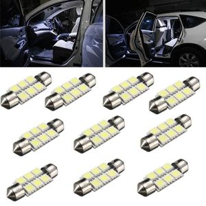GYROPHARE NEUFU 10X 36mm 6 SMD 5050 LED Ampoule Voiture Lamp