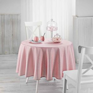 nappe ronde rose achat vente nappe ronde rose pas cher cdiscount. Black Bedroom Furniture Sets. Home Design Ideas