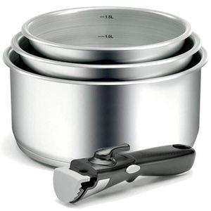 1 poign/ée Gris AM120G Set 3 casseroles 16-18-20cm Arthur Martin