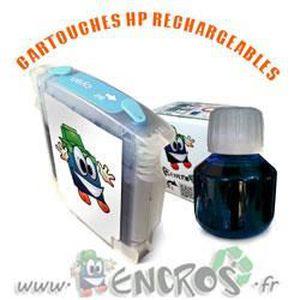 CARTOUCHE IMPRIMANTE RECHARGEABLE- HP 38 Photo Cyan- Kit Cartouche Rech