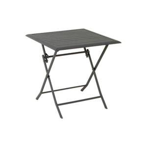 TABLE DE JARDIN  Table de jardin carrée Azua 2 places Ardoise