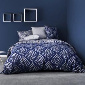 PARURE DE DRAP Parure de lit 4 pièces Fibula bleu 100% coton 57 f