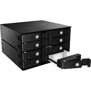 RACK - BAIES  Rack mobile ICY BOX IB-2280SSK pour 8 disques durs
