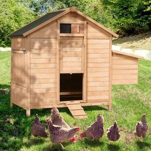 POULAILLER Poulailler chalet en bois 8 à 12 poules avec pondo