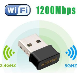 CLE WIFI - 3G Letouch Mini USB WiFi Adaptateur 1200 Mbps Clé WiF