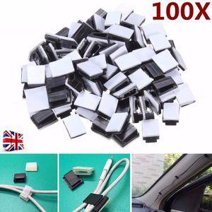 Accessoires câbles 100Pcs 13mm x 9.5mm x 6mm Attache De Câble Clip Au