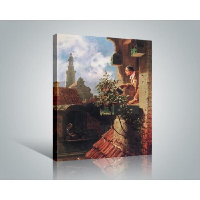 carl spitzweg poster reproduction sur toile tendue sur ch ssis la mansarde 1849 50 x 40 cm. Black Bedroom Furniture Sets. Home Design Ideas