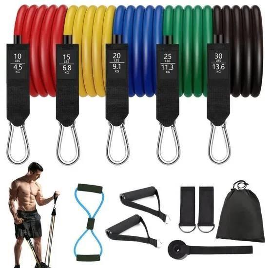 Bandes Elastiques Sport Musculation homme ,Bande de Résistance,Appareil Fitness d'Exercice en Latex Pour Pilates Yoga Entra?nement