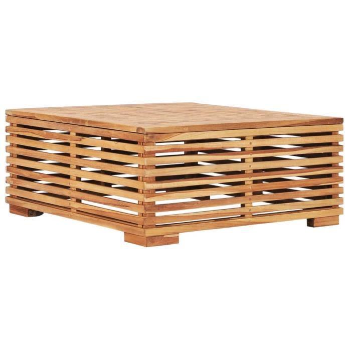 Table de jardin 69,5x69,5x31 cm Bois de teck solide-SQY Boutique