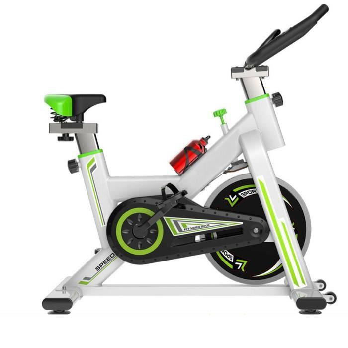 LEXLIFE Vélo d'appartement biking entrainement - Inertie de 11 kg - Vélo d'Exercice Multifonction maison bureau exercic - Noir