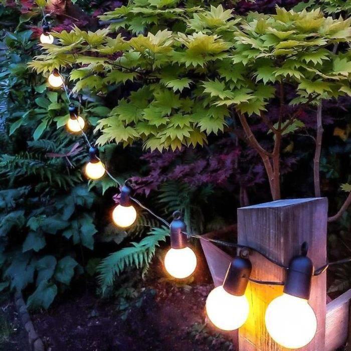 LumiParty LED étanche Globe ampoule chaîne lumineuse fée lumières noël jardin guirlande fêt - Modèle: white shell 4M - MILEDCB05213