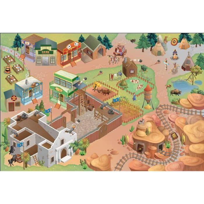 Tapis enfant jeu circuit CONNECTE ALAMO multicolore 100x150, par House Of Kids, Tapis pour enfant