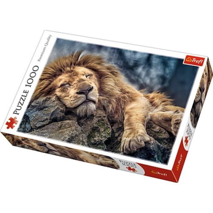 trefl 10447 -puzzle lion en sommeil (1000 pièces)
