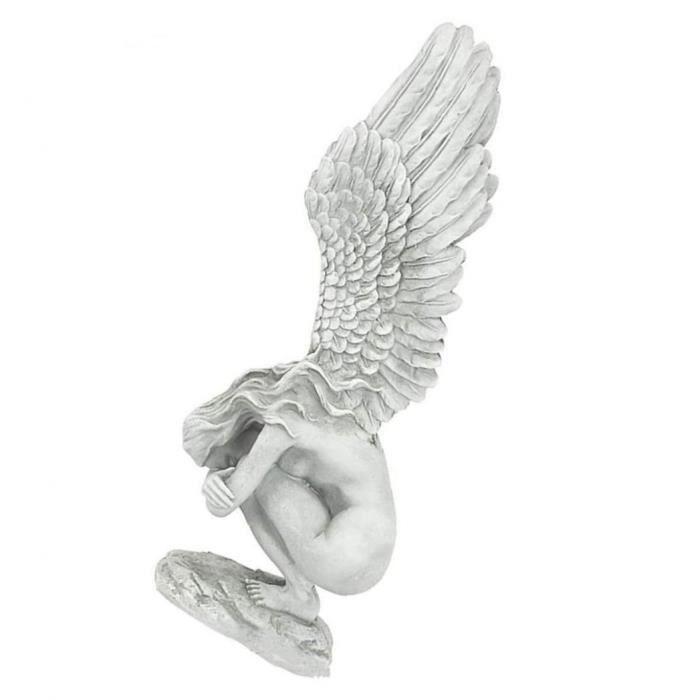 Statue d'ange ornements Redemption Ange Sculpture Art Ailes d'ange Statue Résine pour Présentoir Salon de jardin cadeau S