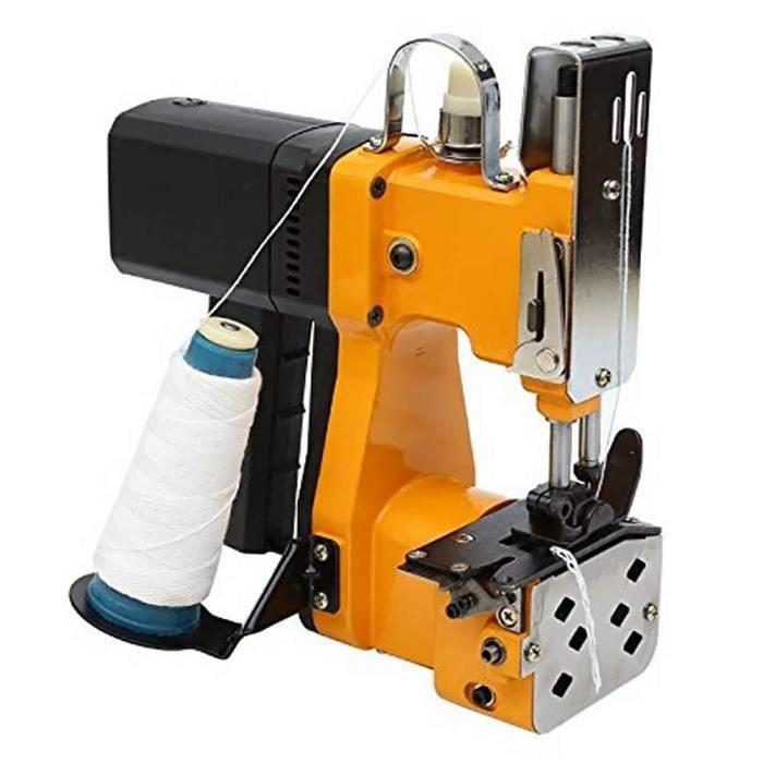 HUKOER Portable Machine À Coudre Closer Stitcher Sac D'emballage Électrique Couture Coudre pour Tissé Serpent Sac Sac De Riz En