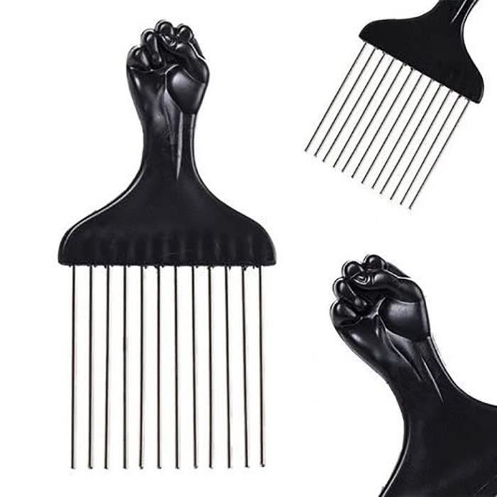YOSOO Peigne à cheveux afro Peigne à cheveux Afro insérer les cheveux bouclés brosse fourche en plastique peigne de sélection