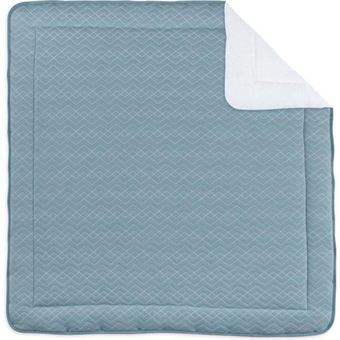 BEMINI - Tapis de parc et jeu Quilted - Bleu - 100x100cm