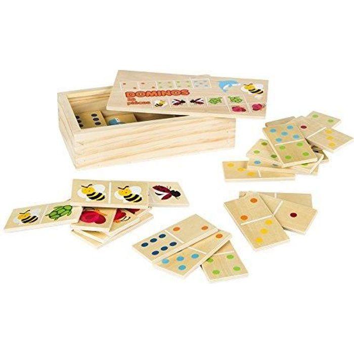 COLORBABY - Dominos Bois 28 pièces (42147) 42147