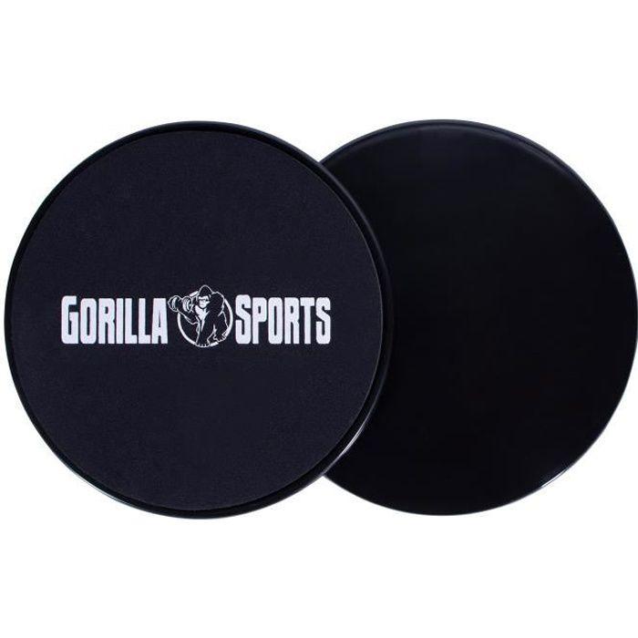 GORILLA SPORTS ® Lot de 2 patins de glisse - disques glisseurs à double face