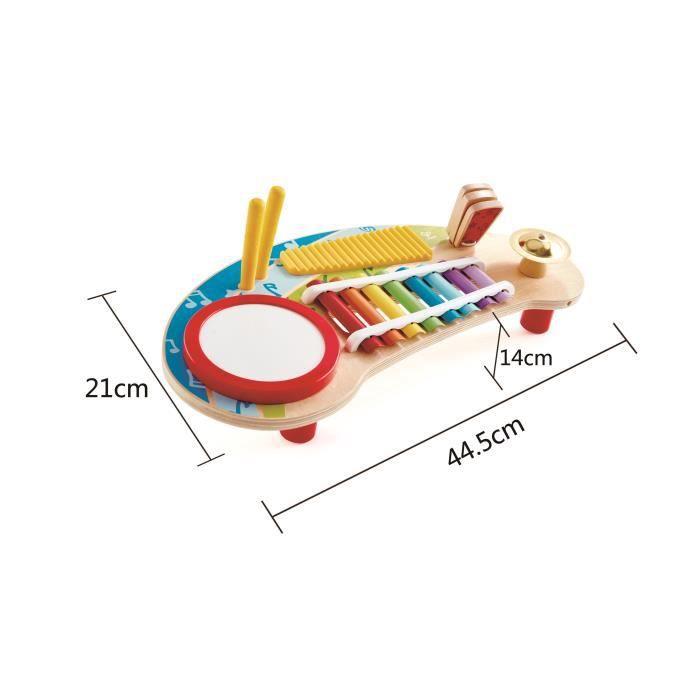 HAPE - Jouet d'éveil musical en bois - E0612 - Mini orchestre multicolor