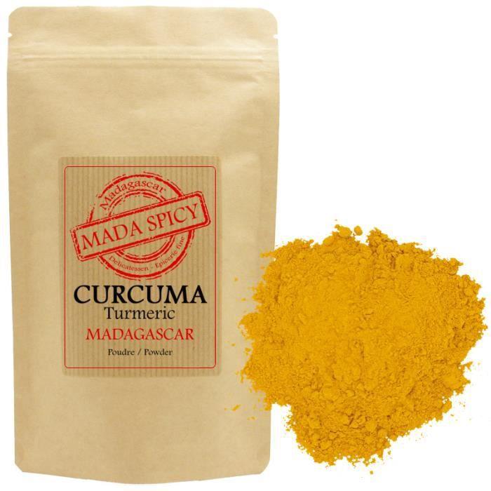 Curcuma poudre de MADAGASCAR 500gr -Agriculture Durable- sachet zip alimentaire.
