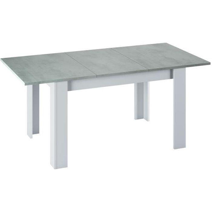 Table extensible KENDA plateau béton