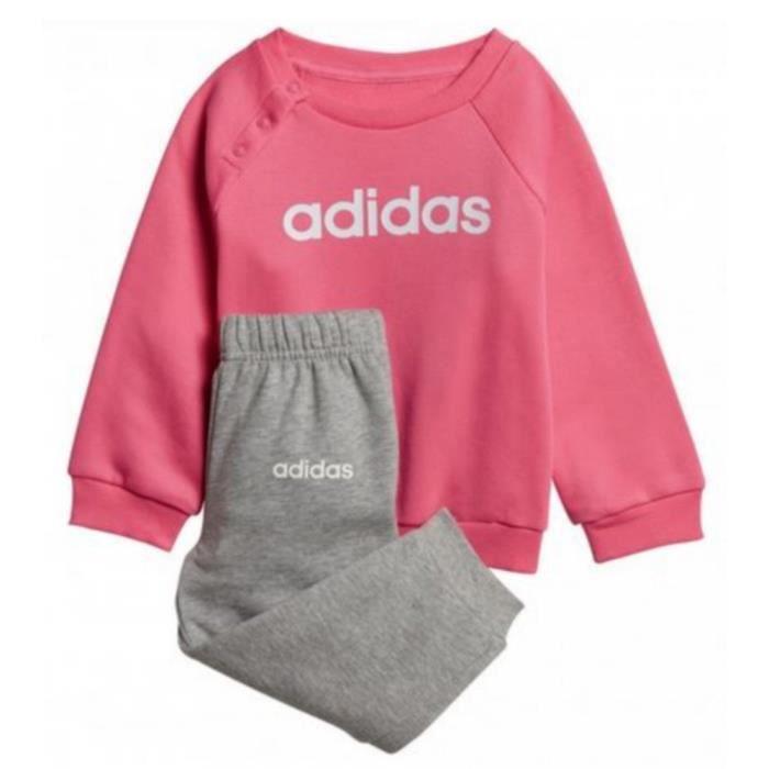 Jogging Molletonné Pour Tout-Petits Fille Adidas Rose et Gris