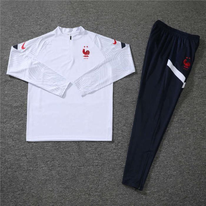 Survêtements Foot Homme France - Maillot Foot Enfants Garçon Homme 20-21 Survêtements Foot Maillot de Foot - Haut et Pantalon