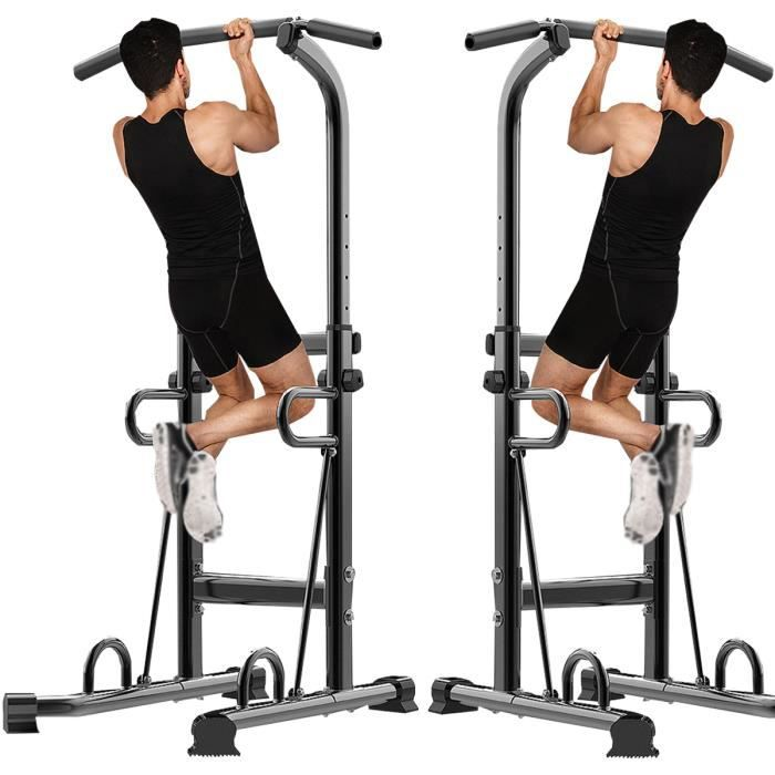IVEENNIR Barre de traction ajustable Station musculation - Pull up bar noire
