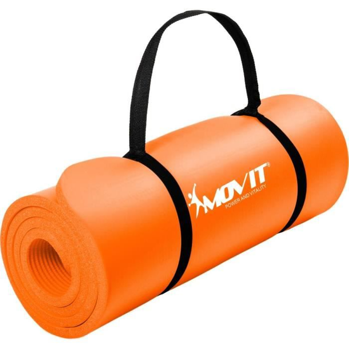 MOVIT® Tapis de gymnastique 183cm x 60cm x 1,0cm, Orange