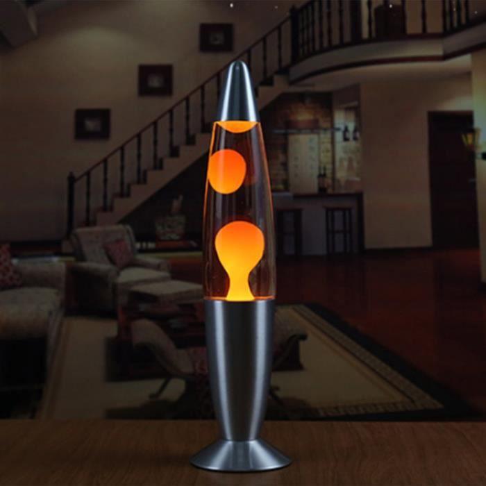 Lampe à lave à base de métal en cire de style volcan