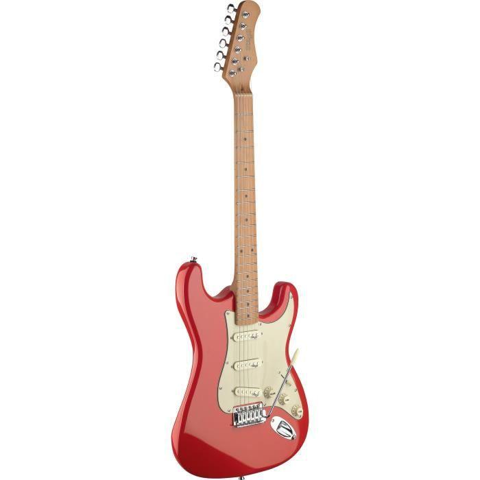 STAGG SES50M-FRD Guitare Electrique Vintage - Rouge