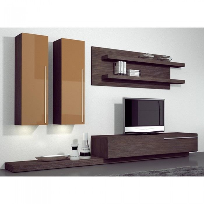 meuble tv marron laque maison design. Black Bedroom Furniture Sets. Home Design Ideas