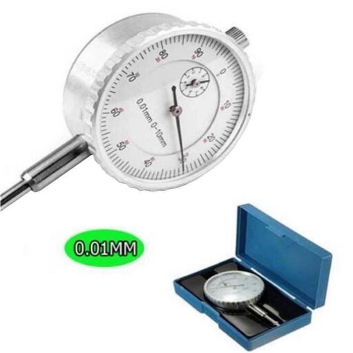 comparateur /à cadran outil de mesure pour outils industriels fournitures de mesure mat/ériel industriel Indicateur /à cadran de plage 0-10mm