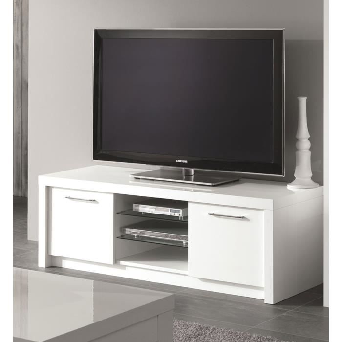 meuble tv blanc laqu design divine meuble tv 150 cm achat vente meuble tv meuble tv blanc. Black Bedroom Furniture Sets. Home Design Ideas