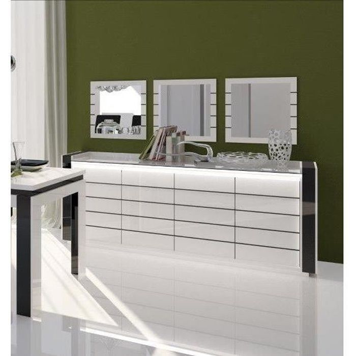 miroir buffet blanc laque. Black Bedroom Furniture Sets. Home Design Ideas