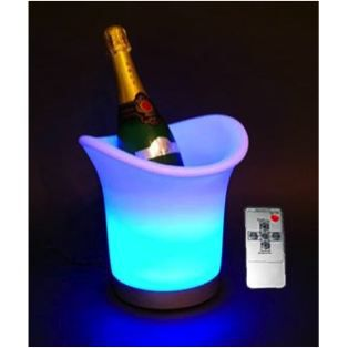 seau a champagne lumineux led sans fil multicolore achat. Black Bedroom Furniture Sets. Home Design Ideas