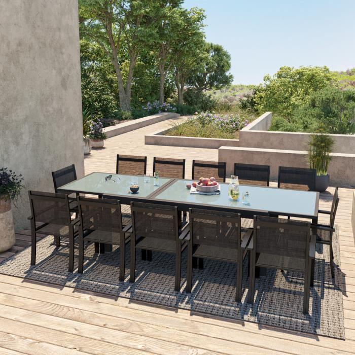 Hara Xxl Table De Jardin Extensible Aluminium 200 320cm