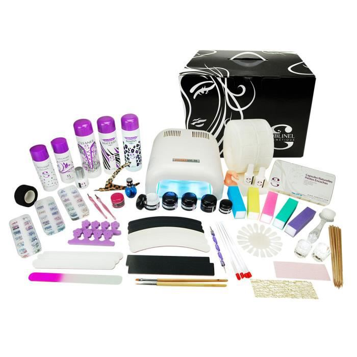 kit xl manucure faux ongles 36w gel uv 3 tapes achat vente set manucure p dicure cdiscount. Black Bedroom Furniture Sets. Home Design Ideas