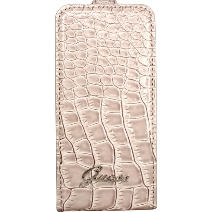 etui guess iphone 4 et 4s croco beige achat coque bumper pas cher avis et meilleur prix. Black Bedroom Furniture Sets. Home Design Ideas