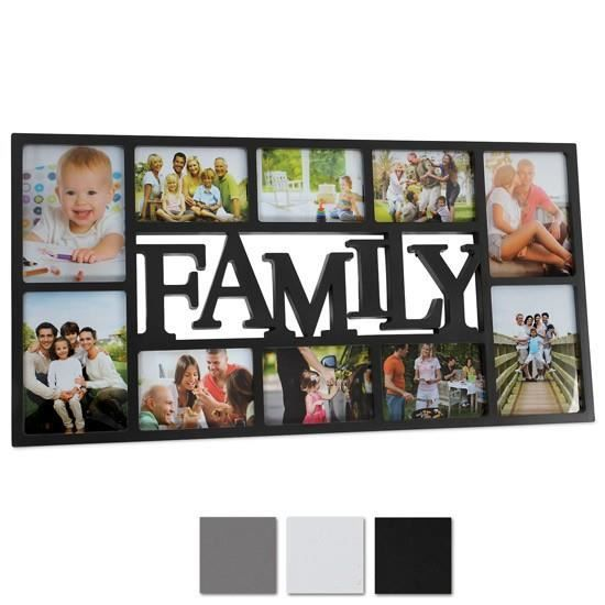 cadre photo family blanc achat vente cadre photo cdiscount. Black Bedroom Furniture Sets. Home Design Ideas