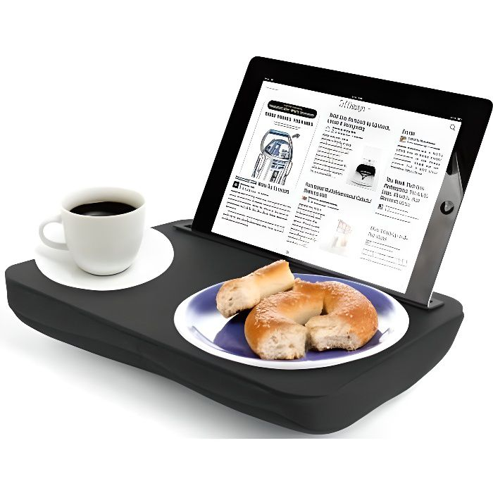 SUPPORT PC ET TABLETTE Kikkerland - Plateau Coussin pour Tablette iBed